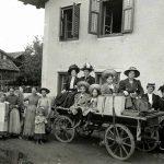 Abreise nach einem Urlaub in Oberperfuss ca. 1910